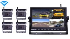 Digital Wireless Rear View System for RV with 4 Cameras and Monitor