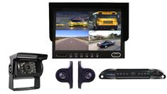 Trailer Rear View System with 4 Backup Cameras and Monitor