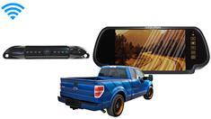 7-Inch Mirror Wireless License Plate Backup Camera For Trucks
