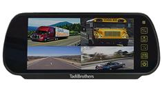 7-Inch Split Screen rearview Mirror for up to 4 Backup Cameras