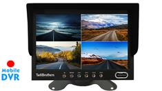 7-Inch Split Screen Monitor with built in DVR for up to 4 Backup Cameras