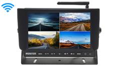 9-Inch Split Screen Monitor for up to 4 Built in Digital Backup Cameras