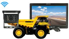 Dump Truck Backup Camera (7-Inch Monitor with Wireless CCD Mounted Box Camera)