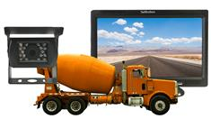 Cement Truck Rearview System with High Definition Monitor