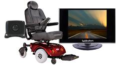 Wheelchair Scooter Rear view Backup Camera System with a 3.5-Inch Screen