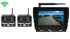 5th Wheel Rearview System with 2 Digital Wireless Backup Cameras and Monitor