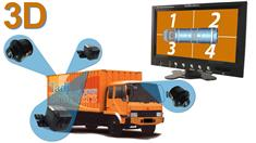 360 Degree Truck Camera System in 3D for Surround View with DVR (4 Cameras)