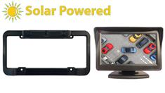 Solar Powered Wireless License plate camera with a Monitor