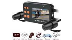 Motorcycle DVR Recording System With 2 Cameras Resolution 1080p