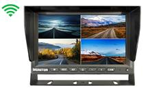 7-Inch Split Screen Monitor for up to 4 Digital Backup Cameras (ERC)