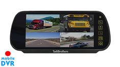 7-Inch Split Screen Mirror with built in DVR for up to 4 Backup Cameras