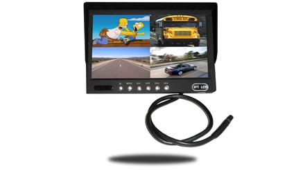 7-Inch Split Screen Monitor for up to 4 Backup Cameras | SKU34288