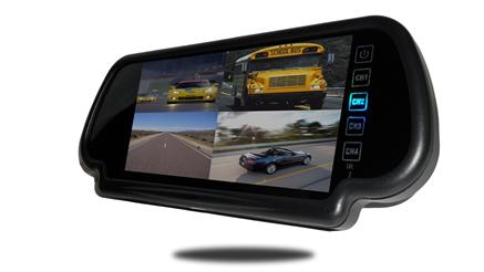 7 inch Split screen mirror with angled view