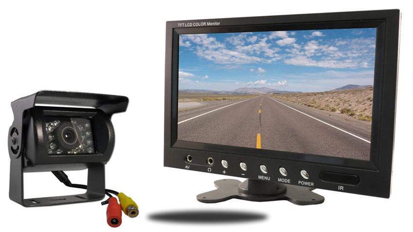 Skid Steer Backup Camera System : Skid loader camera system backup