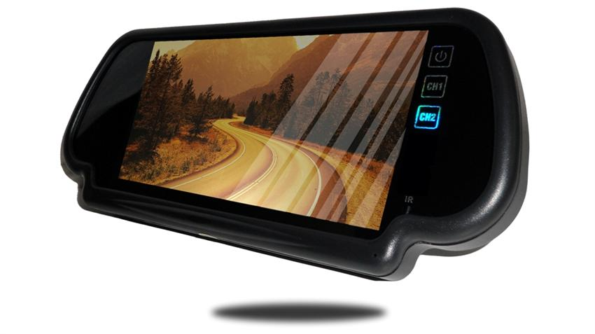 7 Inch rear view mirror monitor frontal view SKU22503