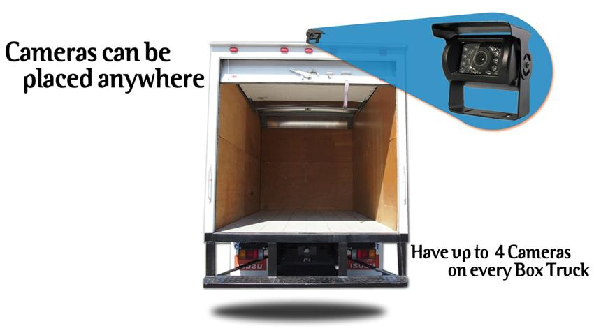 Box Truck Backup Camera System Clip On Mirror With Roof