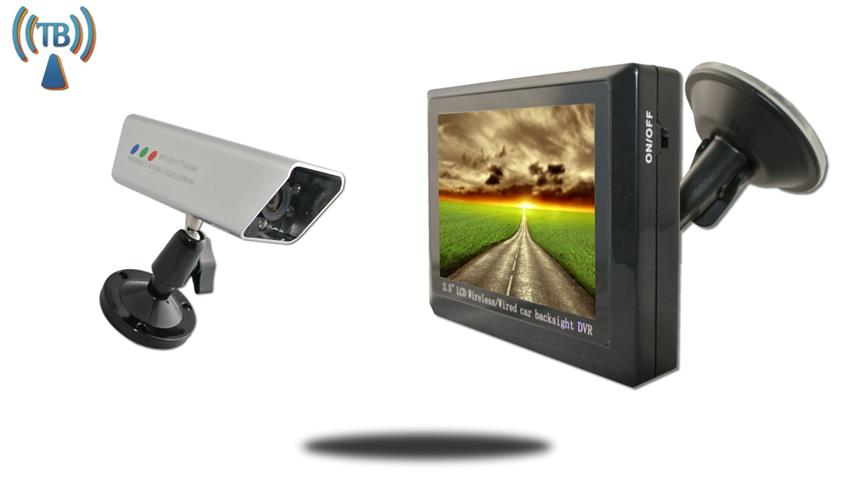 3.5-Inch Monitor and 120° Wireless Magnet Mounted Backup Camera SKU-81899
