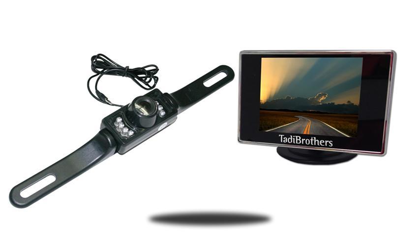 License Plate Backup Camera | 3.5-Inch Monitor | SKU16146