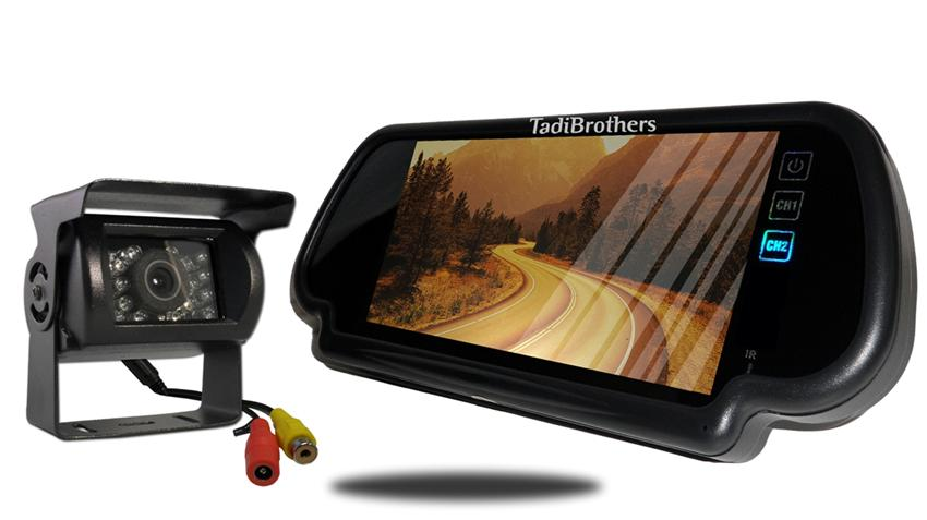 RV Backup Camera system Clip on Mirror Monitor