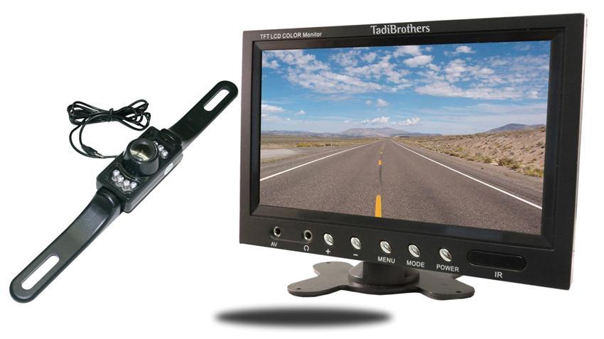 License plate backup Camera with 7 inch LCD Monitor | SKU-16248