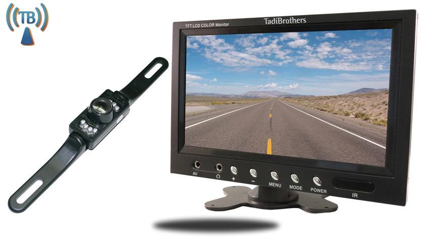 Wireless License Plate Backup Camera kit | 7-Inch Monitor | SKU53375