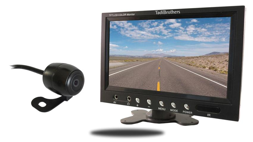 Frontal View Car Camera with Monitor | SKU-70236 | TadiBrothers