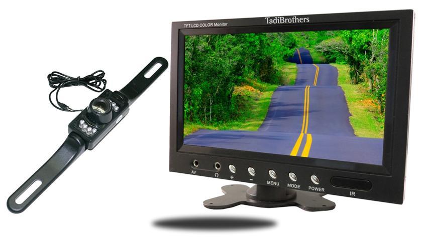 License Plate Backup Camera | 9-Inch Monitor | SKU93109