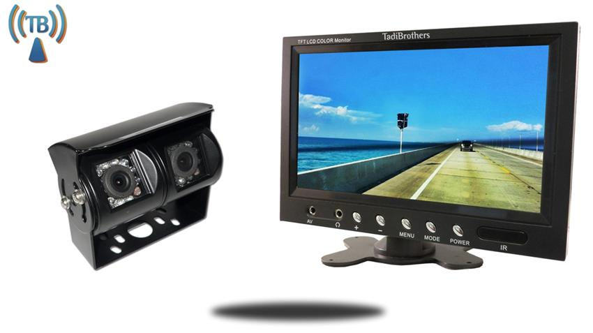 10.5 Inch Monitor with 120 Degree CCD Double Mounted Wireless RV Backup Camera Great for RV's and Trailers!