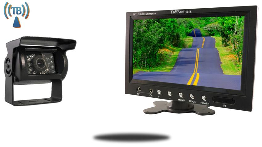 9 inch Monitor with Wireless CCD Mounted RV Backup Camera Great for a Trailer, RV or Camper