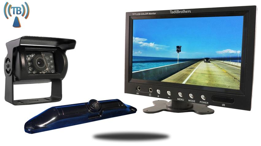 5th Wheel Wireless Backup Camera System with a 10.5 Inch Monitor and 2 Backup Cameras Great for RV's Trucks Trailers 5th Wheels and Campers