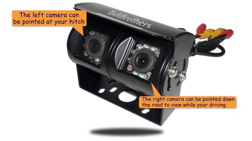 Wireless Rv Backup Camera With Dual Lens And Rear View Monitor