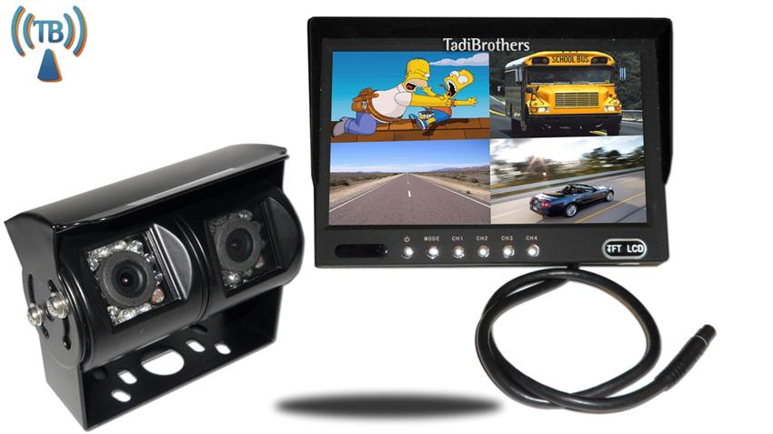 10.5 Inch Split Monitor and a 120 Degree CCD Wireless Double Mounted RV Backup Camera Great for RV's, Trailer's and Campers!