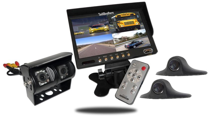 Four camera rv backup system with double ccd camera and two small side cameras | SKU1276331