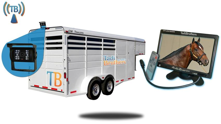 10.5 Inch Horse Trailer Monitor with Wireless Mounted Backup Cameras Great for Trailers, RV's, and Trucks