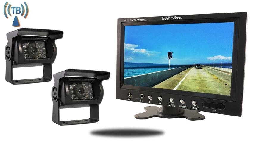 10.5 Inch Monitor with 2 Wireless Mounted RV Backup Cameras.  Great for RV's, Trucks and Campers!