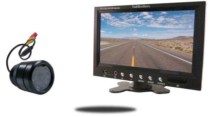 Flush mounted 150 degree bumper camera with 7 inch color monitor