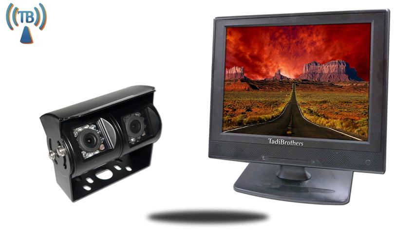 12 Inch Monitor and a 120° Double Mounted Wireless RV Backup Camera Great for RV's Trailers and Campers.
