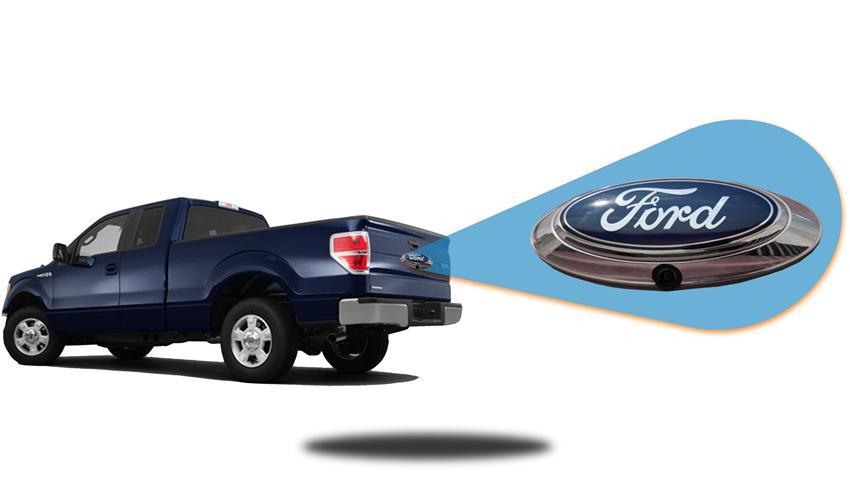 ford f150 emblem backup camera for pickup truck. Black Bedroom Furniture Sets. Home Design Ideas