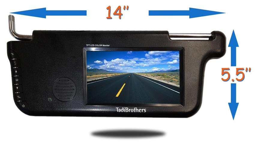Small Wireless Backup Camera With A Visor Replacement Monitor