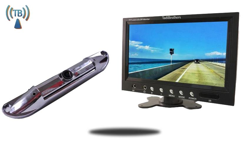 10.5 Inch Monitor with Wireless CCD Steel License Plate Backup Camera Great for Cars, Pick up trucks, Hooking up a trailer to your hitch!