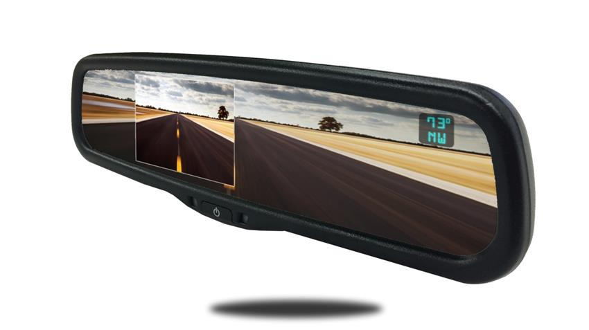Full Mirror Monitor with Built-in Camera Screen