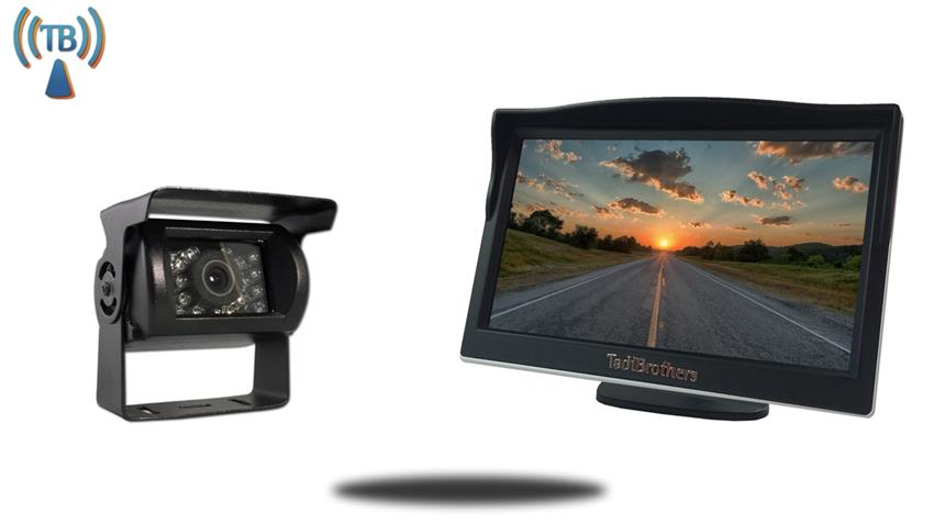 5 inch Monitor with Wireless Mounted RV Backup Camera Great for 5th Wheels/RV's/Campers