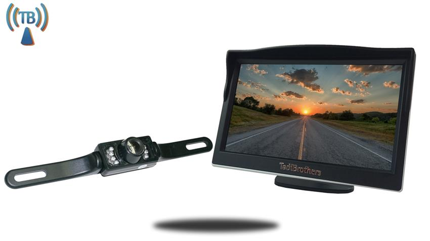 5 inch Monitor with Wireless License Plate Backup Camera Great for All Vehicles!
