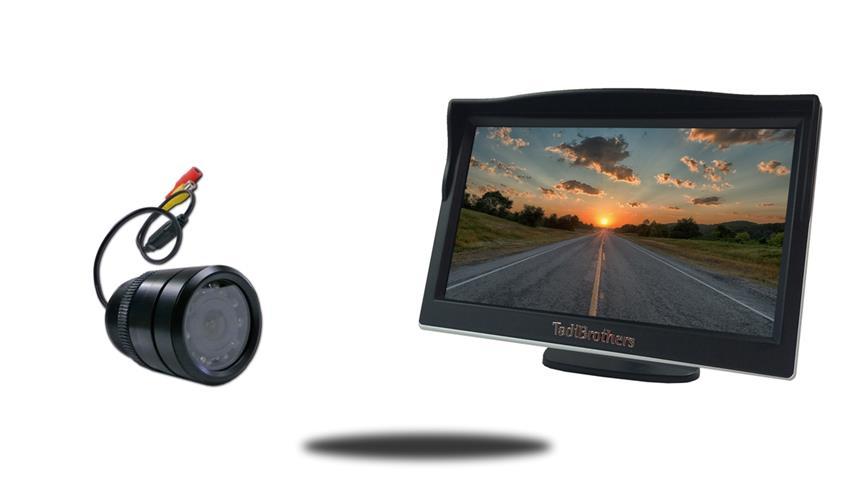 5 inch color monitor with 150 degree bumper backup camera