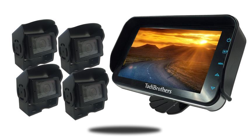 Industrial Backup Camera System | Four Heavy Duty Cameras | SKU24392