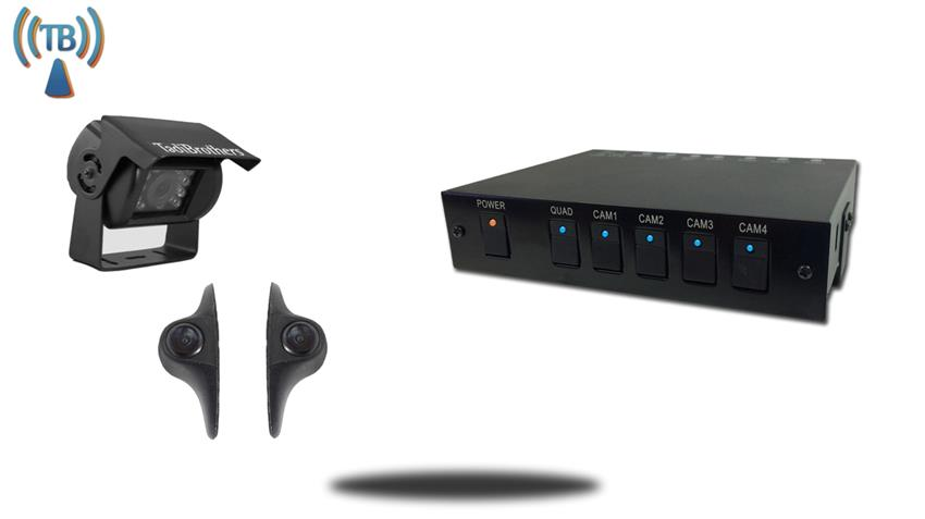 Control Box Multiplexer and 3 backup cameras