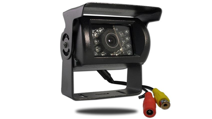 120 degree birds-eye view RV backup camera for RVs, trailers, campers, 5th wheels, semi trucks, construction and farm equipment, and buses/coaches.