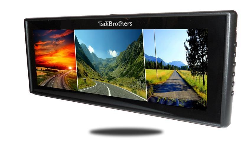 9 inch split screen mirror front view