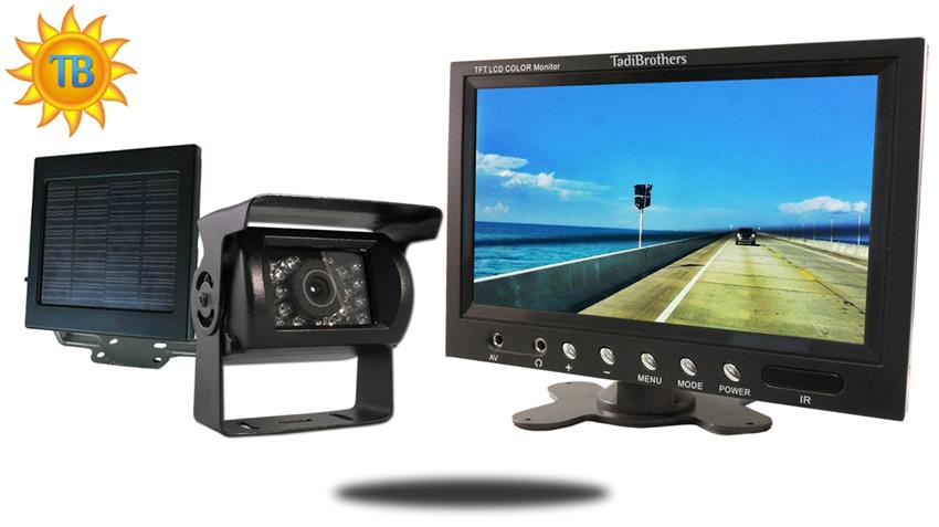 10.5-Inch Monitor with Solar Powered Wireless Mounted RV