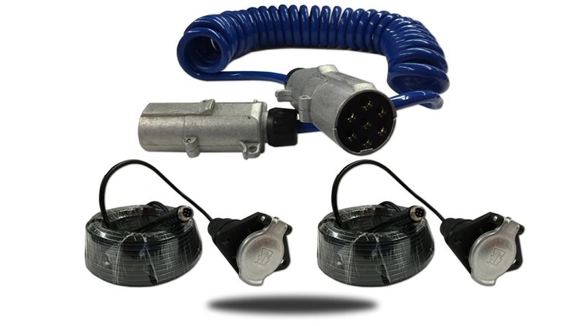 The industrial trailer tow quick disconnect is the most rugged slinky cable we carry.